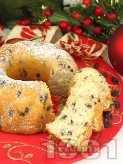 Лесен коледен кекс със стафиди за десерт - снимка на рецептата